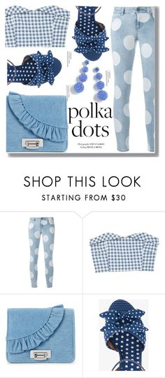 """Polka Dots"" by drigomes ❤ liked on Polyvore featuring STELLA McCARTNEY, MANGO, La Regale, Tabitha Simmons and J.Crew"