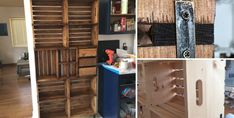 Mira este increíble mueble que puedes hacer para tu garaje Entryway, Furniture, Ideas, Home Decor, Mugs, Upcycle, Garage, Organize, Board