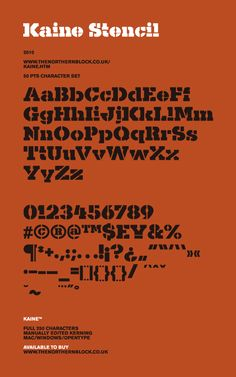 Kaine Stencil font - a free typeface by Jonathan Hill