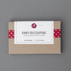Naughty Love Sex Coupons. First Paper Anniversary. by FlytrapOnE
