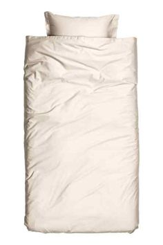 Washed satin duvet cover set