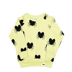 BEAU LOVES - Pistachio Lovebugs Raglan Jumper