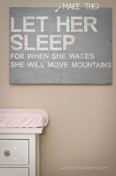 Already pinned and I know its supposed to be for a nursery but i loved it for myself!! lol. This website has a ton of DIY wall art