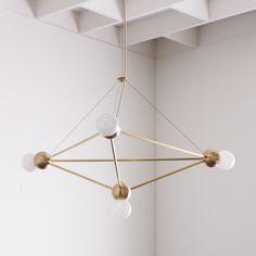 Lina 04-Light Pyramid LG Chandelier • WorkOf