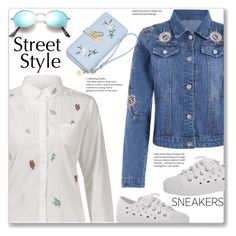 """""""Street Style :: White Sneakers"""" by jecakns ❤ liked on Polyvore"""