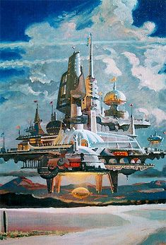 Flying City by Robert McCall