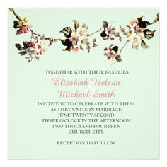 Bloom Floral Branches Wedding Invite
