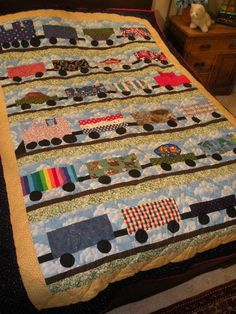 Little Trains That Can Twin Quilt