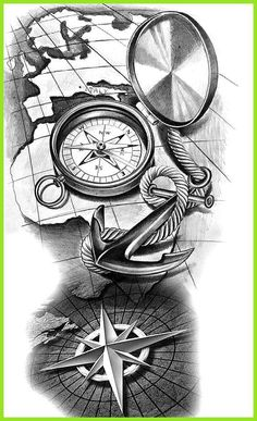 65 Amazing Compass Tattoo Designs and Ideas # .- 65 erstaunliche Kompass Tattoo Designs und Ideen … 65 Amazing Compass Tattoo Designs and Ideas - Clock Tattoo Design, Compass Tattoo Design, Tattoo Sleeve Designs, Sleeve Tattoos, Map Tattoos, Forearm Tattoos, Body Art Tattoos, Travel Tattoos, Ankle Tattoos