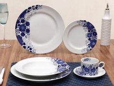 Aparelho de Jantar 30 Peças - em Porcelana Schmidt Prática Glória