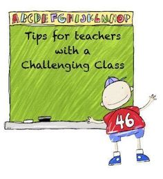 Tips for teachers with a challenging class. Also, a linky party on the bottom of the blog which leads to many more tips and ideas for classroom management.