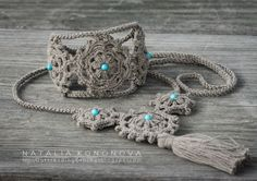 Outstanding Crochet: New project. Crochet Boho Bracelet & Necklace.