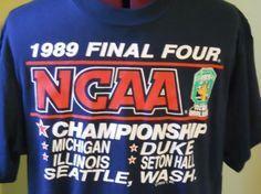 Vintage 1989 NCAA Final Four Tee Shirt #GoPirates!  $20.00