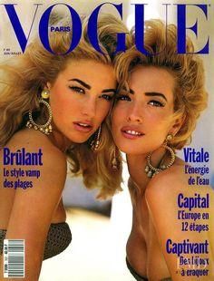 Covers of Vogue Paris with Elaine Irwin Mellencamp, Tatjana Patitz, 958 1990 | Magazines | The FMD #lovefmd