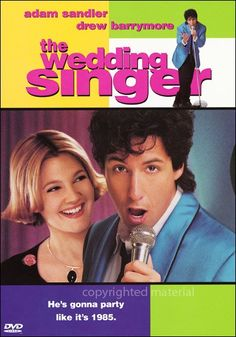 """The must watch comedy of all time...""""The #Wedding Singer"""" with Adam Sandler & Drew Barrymore"""