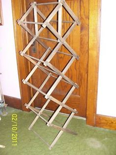 wooden dowel clothes rack My Mama had one of these to dry 'unmentionables'!!!!