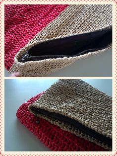 かぎ針編み作品4作目クラッチバッグ完成しましたバレエストレッチの先生が作ったオリジナルクラッチバッグを見て一目惚れ作り方を教わり作りました先生のより一回り位小…