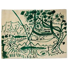 tapestry by Picasso - 6' x 7.5'  c. 1965