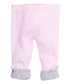 Look what I found on #zulily! Powder Pink Stripe Convertible Footie Pants by mbaby #zulilyfinds