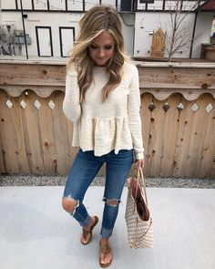 Changed for a quick din with the family Not sure where my sunshine went but glad I had this knit top! To get the product details for…