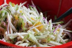 Crunchy Jicama & Chayote Salad from Haiti and Honduras