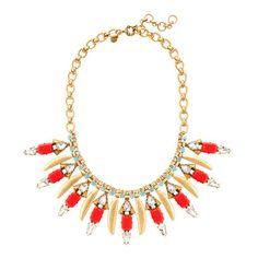 J.Crew - Poppy fringe necklace
