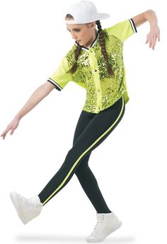 Weissman® | Sequin Athletic Jersey and Leggings