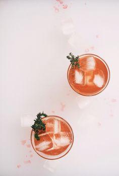 blood orange whiskey cocktails | holly & flora