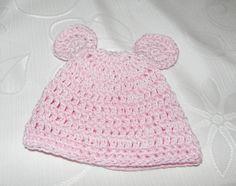 Scarpette e cappellino coniglietto bebè rosa lana o cotone