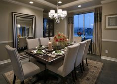 Dining Room with the Perfect Lighting - Toll Brothers Inc.