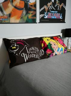 Disney Alice in Wonderland Pillow Cases Cheshire Cat Bedding Pillowcase Set, NEW