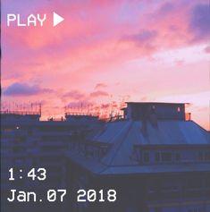 M O O N V E I N S 1 0 1 #vhs #aesthetic #sunset #sky #pink #building