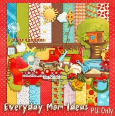"Everyday Mom Ideas: ""Backyard Play"" Free Digital Scrapbooking Kit"