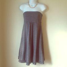 J. Crew strapless gray heather dress sz 10 wool J. Crew strapless gray heather dress sz 10 wool. Super cute, like new condition! J. Crew Dresses