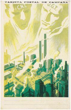 [Tarjeta Postal de campaña - C.N.T. - U.G.T.] / José Bardasano (1910-1979) - Partido Comunista de España. Comite provincial de Madrid, [ca 1937]