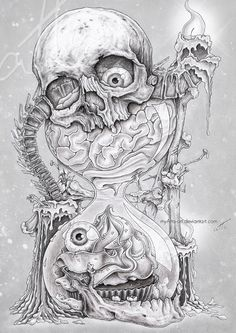 NoUseForAName by myAtta-art on DeviantArt Dark Art Drawings, Tattoo Design Drawings, Skull Tattoo Design, Skull Tattoos, Tattoo Sketches, Body Art Tattoos, Art Sketches, Sleeve Tattoos, Tattoo Designs