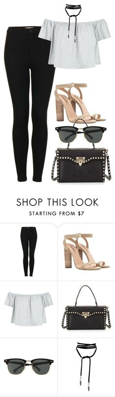 """Sans titre #840"" by nicolaisbae ❤ liked on Polyvore featuring Topshop, New Look, Valentino and Ray-Ban"