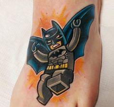 Batman lego tattoo
