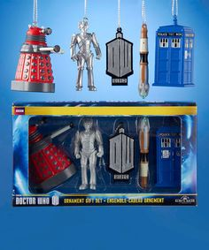 Loving this Doctor Who Ornament Set on #zulily! #zulilyfinds