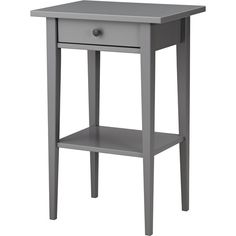 HEMNES Bedside table Grey ($64) ❤ liked on Polyvore featuring home, furniture, storage & shelves, nightstands, grey wood furniture, grey wood bedside table, gray wood nightstand, gray nightstand and gray bedside table