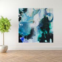 Large abstract painting by Mette Lindberg. www.mettelindbergart.com