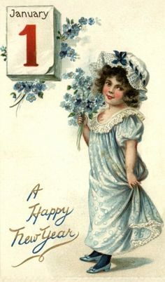 Vintage New Year's Images | Public Domain | Toestand Gratis