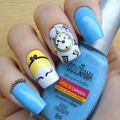 Disney Acrylic Nails, Disney Nails, Cute Acrylic Nails, Love Nails, How To Do Nails, Pretty Nails, My Nails, Disney Nail Designs, Nail Art Designs