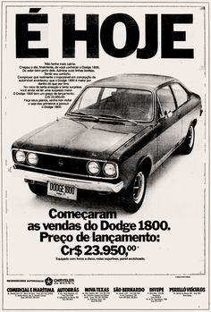 Anúncio Dodge 1800 - 1973