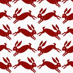 red_rabbit_linen fabric by holli_zollinger on Spoonflower - custom fabric