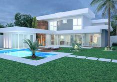 Modern Architecture House, Architecture Design, House Outside Design, Modern Villa Design, Luxury Homes Dream Houses, Dream House Exterior, Dream Home Design, Modern House Plans, Facade House