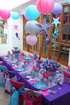 Cute simple decorations for a party.  Just change the colors to suit your needs.