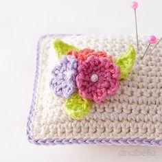 Small flowers crochet pincushion giveaway | Anabelia Craft Design blog | Bloglovin'