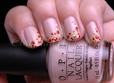 Nail art - Dotted Pretzel