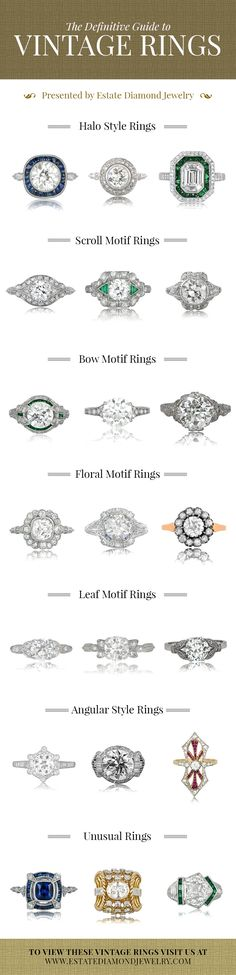 The Definitive Guide for Vintage Rings. Feel free to click this image to view the vintage rings on the website.